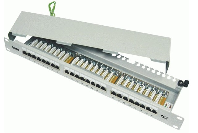 Patch panel 24 port Dintek...