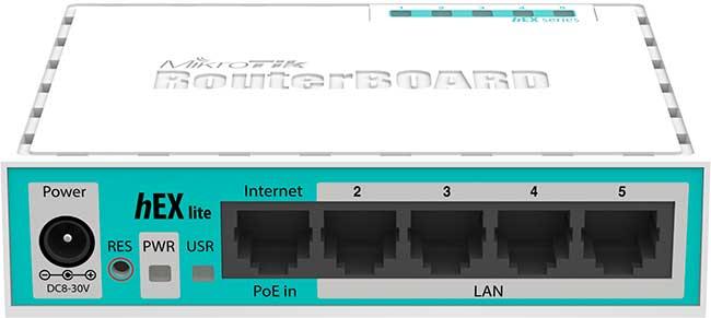 Mikrotik RB750r2 (hEX lite)