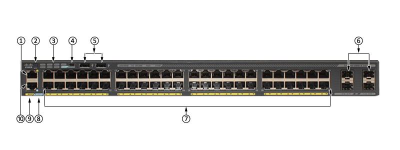 WS-C2960X-48LPS-L Switch 2960X 48 GigE PoE 370W 4 x 1G SFP LAN Base