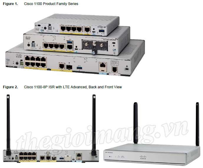 Các dòng Router Cisco ISR 1000 Series (Cisco C1111-4P, C1111-8P